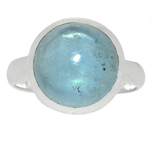 Aquamarine - March Birthstone 925 Sterling Silver Ring Jewelry s.7 AQMR860