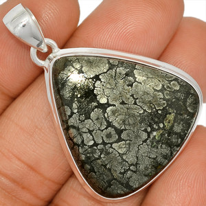 14g Pyrite In Agate 925 Sterling Silver Pendant  Jewelry PIAP173