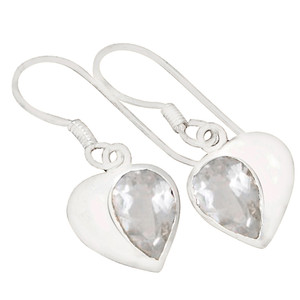 Crystal 925 Sterling Silver Earrings Jewelry E2120WT