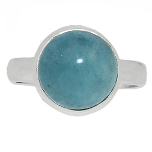 Aquamarine - March Birthstone 925 Sterling Silver Ring Jewelry s.9 AQMR826
