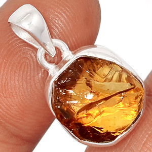 Citrine Rough 925 Sterling Silver Pendant  Jewelry CTRP515