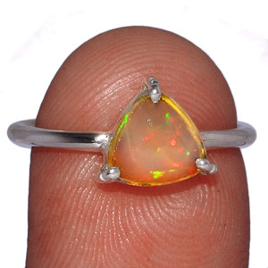 Beautiful Faceted Ethiopian Opal 925 Sterling Silver Ring Jewelry s.7.5 EOFR1549