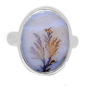 Scenic Dendritic Agate Opal 925 Sterling Silver Ring Jewelry s.8 SDAR1135