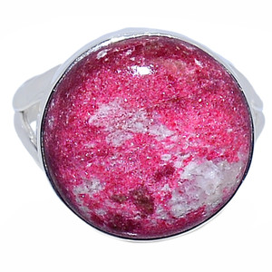 Pink Thulite 925 Sterling Silver Ring Jewelry s.10 PKTR185