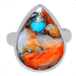 Spiny Oyster Arizona Turquoise 925 Sterling Silver Ring Jewelry s.7 SOTR919