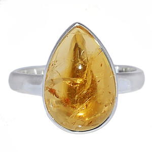 Citrine Cab 925 Sterling Silver Ring Jewelry s.10 CTCR631