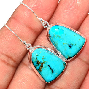 Blue Mohave Turquoise 925 Sterling Silver Earrings Jewelry BMTE1254