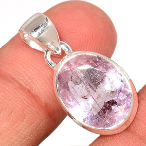 Faceted Morganite 925 Sterling Silver Pendant  Jewelry MGFP122