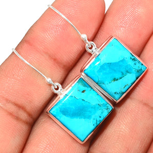 Blue Mohave Turquoise 925 Sterling Silver Earrings Jewelry BMTE1250