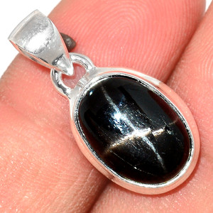Star Diopside - Black Star Of India 925 Sterling Silver Pendant  Jewelry BSTP294