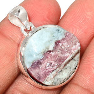 Pink Tourmaline In Quartz 925 Sterling Silver Pendant  Jewelry PTQP253