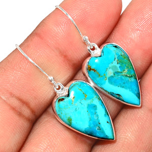 Beautiful Blue Mohave Turquoise 925 Sterling Silver Earrings Jewelry BMTE1264