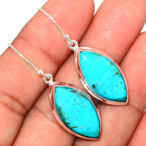 Beautiful Blue Mohave Turquoise 925 Sterling Silver Earrings Jewelry BMTE1244