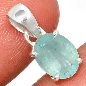 Faceted Aquamarine 925 Sterling Silver Pendant  Jewelry AQFP1102