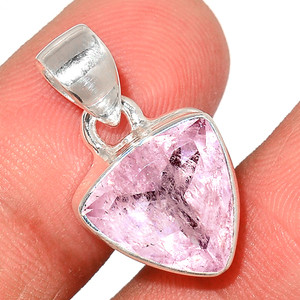 Faceted Morganite 925 Sterling Silver Pendant  Jewelry MGFP147