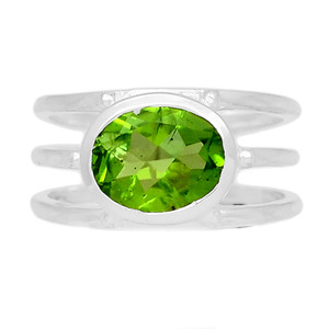Peridot 925 Sterling Silver Ring Jewelry s.6.5 PDTR603
