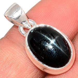 Star Diopside - Black Star Of India 925 Sterling Silver Pendant  Jewelry BSTP284