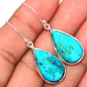 Beautiful Blue Mohave Turquoise 925 Sterling Silver Earrings Jewelry BMTE1268