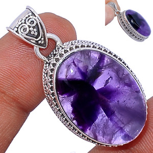 13g Amethyst Star 925 Sterling Silver Pendant  Jewelry ATSP143