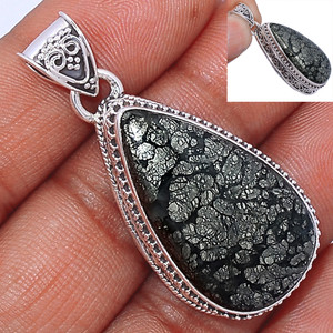 14g Pyrite In Agate 925 Sterling Silver Pendant  Jewelry PIAP229