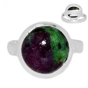 Adjustable Ring - Ruby Zoisite 925 Sterling Silver Ring Jewelry s.6.5 RBZR578