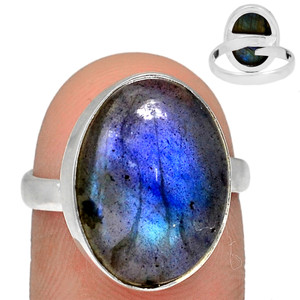Adjustable Ring - Multi Fire Labradorite 925 Silver Ring Jewelry s.7.5 MFLR564