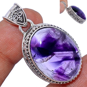 12g Amethyst Star 925 Sterling Silver Pendant  Jewelry ATSP155