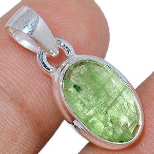Faceted Green Kyanite 925 Sterling Silver Pendant  Jewelry GKFP39