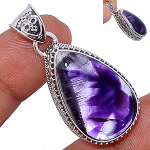 12g Amethyst Star 925 Sterling Silver Pendant  Jewelry ATSP148