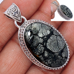 14g Pyrite In Agate 925 Sterling Silver Pendant  Jewelry PIAP234