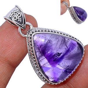 12g Amethyst Star 925 Sterling Silver Pendant  Jewelry ATSP141