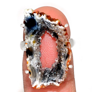 Geode Druzy 925 Sterling Silver Ring Jewelry s.5.5 GODR306