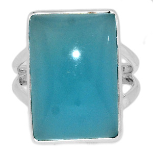 Paraiba Chalcedony 925 Sterling Silver Ring Jewelry s.9 PCDR236