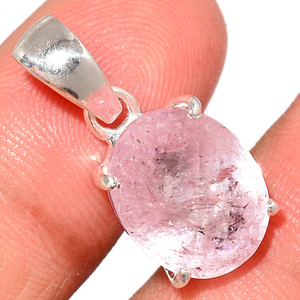 Faceted Morganite 925 Sterling Silver Pendant  Jewelry MGFP223