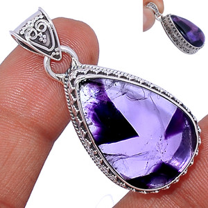 12g Amethyst Star 925 Sterling Silver Pendant  Jewelry ATSP146