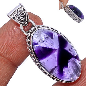 12g Amethyst Star 925 Sterling Silver Pendant  Jewelry ATSP154