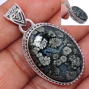 14g Pyrite In Agate 925 Sterling Silver Pendant  Jewelry PIAP226
