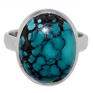 Tibetan Turquoise 925 Sterling Silver Ring Jewelry s.9 TQSR2011