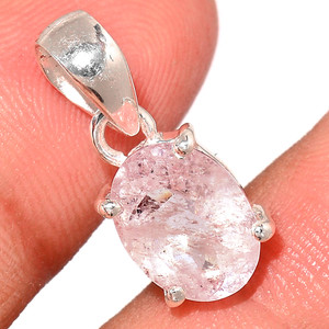 Faceted Morganite 925 Sterling Silver Pendant  Jewelry MGFP208