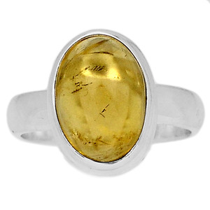 Citrine Cab 925 Sterling Silver Ring Jewelry s.6 CTCR659