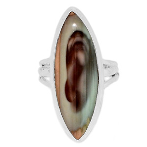 Imperial Jasper 925 Sterling Silver Ring Jewelry s.7 IMPR230