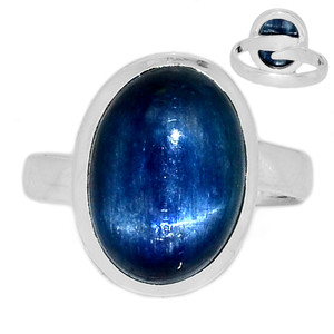 Adjustable Ring - Kyanite 925 Sterling Silver Ring Jewelry s.7.5 KYNR1404