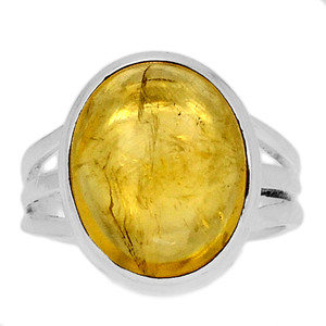 Citrine Cab 925 Sterling Silver Ring Jewelry s.6.5 CTCR665
