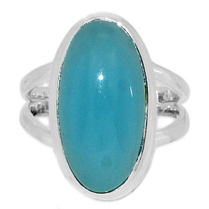 Paraiba Chalcedony 925 Sterling Silver Ring Jewelry s.7.5 PCDR209