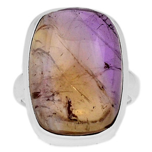 Ametrine Cabochon 925 Sterling Silver Ring Jewelry s.7 ATCR118