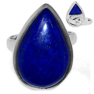 Adjustable Ring - Lapis 925 Sterling Silver Ring Jewelry s.8 LPSR2107