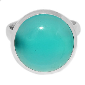 Paraiba Chalcedony 925 Sterling Silver Ring Jewelry s.9 PCDR183