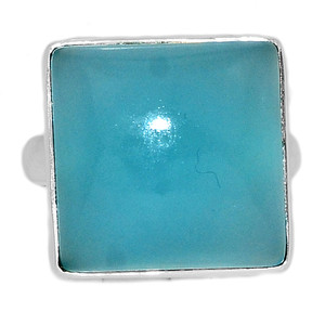 Paraiba Chalcedony 925 Sterling Silver Ring Jewelry s.8 PCDR233