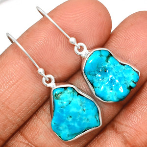 Arizona Turquoise 925 Sterling Silver Earrings Jewelry SBTE239