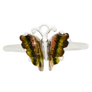 Butterfly Tourmaline 925 Sterling Silver Ring Jewelry s.8 BFTR17